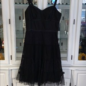 Antonio Melani 8 black cocktail party dress lace